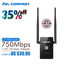 COMFAST Dual Band Wifi Repeater 750Mbps 802.11AC  2.4G/5.8G wifi Router Wi-fi Roteador Expander wifi CF-WR750AC ac wifi repeater(China (Mainland))