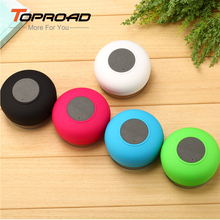 Water Resistant Shower Stereo Wireless Speaker Bluetooth Speaker with Sucker Support Handsfree Calls Function for Phone Laptop