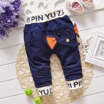2016 Autumn Baby Kids Children Boys Babi Casual Elephant Letter Long Pants Full Length Trousers S2130