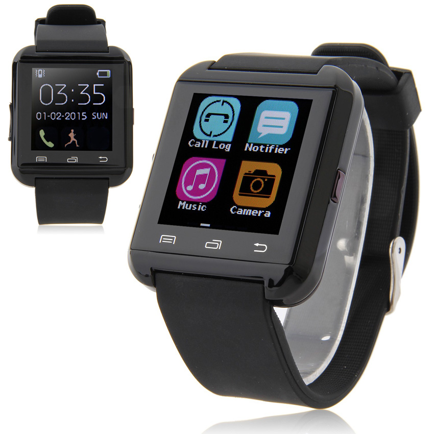 Bluetooth Smartwatch U8 Smart Watch for Samsung S6 Note 4 HTC Android Phone Smartphones Android Wear 3 Colors