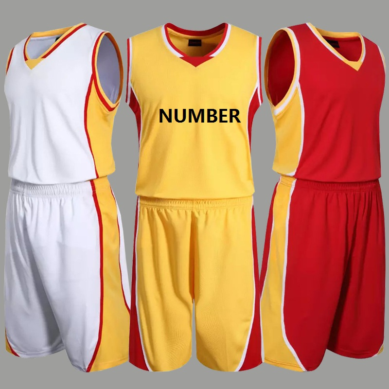 Large size men's basketball jersey sports group of male basketball training suit clothes(China (Mainland))
