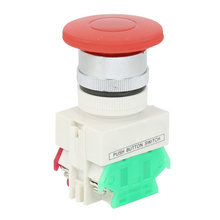 Buy EWS Panel Mounting Red Momentary Push Button Switch AC 660V 10A 1NO 1NC DPST for $1.30 in AliExpress store