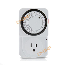 Free Shipping 24 Hour Mechanical Timer Plug Program Timer Time Switch(China (Mainland))