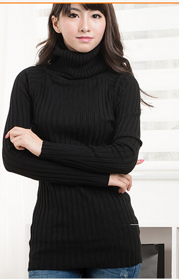 Fall and winter Warm and comfortable Sweater long Sweater coat 2015 Women fashion soft close knit Sweater High collar(China (Mainland))