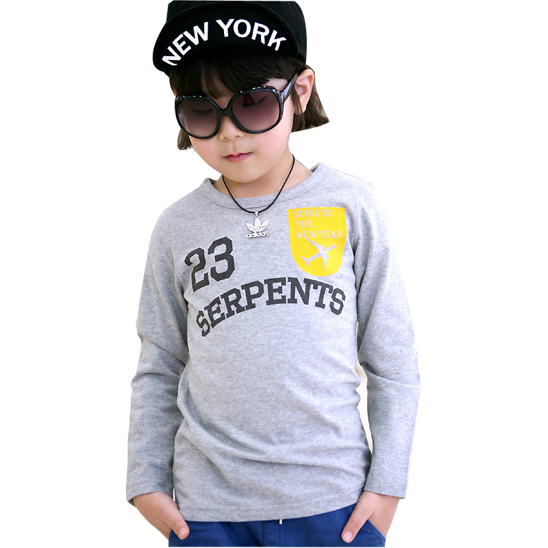 Fashion Designer Kids Autumn -Winter Baby Top Children Long Sleeves Bottoming Round Neck Cotton T Shirt Printing<br><br>Aliexpress