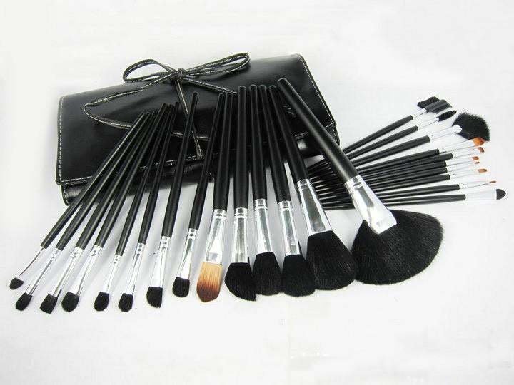 new Fashion Hot Sale Beauty Cosmetic Brushes Makeup Brush Set 24Pcs/Set Good Quality Hair Round Box Replace Mac(China (Mainland))