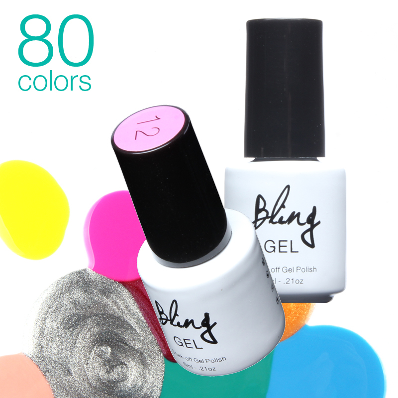 80Colors Optional Nail Gel Polish Gel Len Long lasting Soak off Gel Nail LED UV 6ml