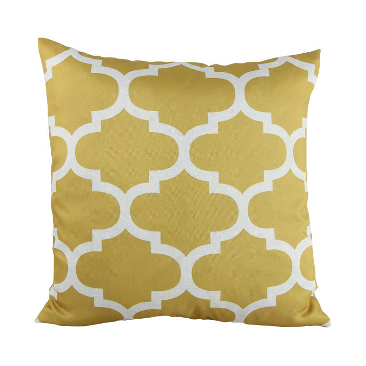 2015 Canvas Quatrefoil Accent Decorative Throw Pillow Covers Geometric Sofa Cushion Cover 18X18 ...