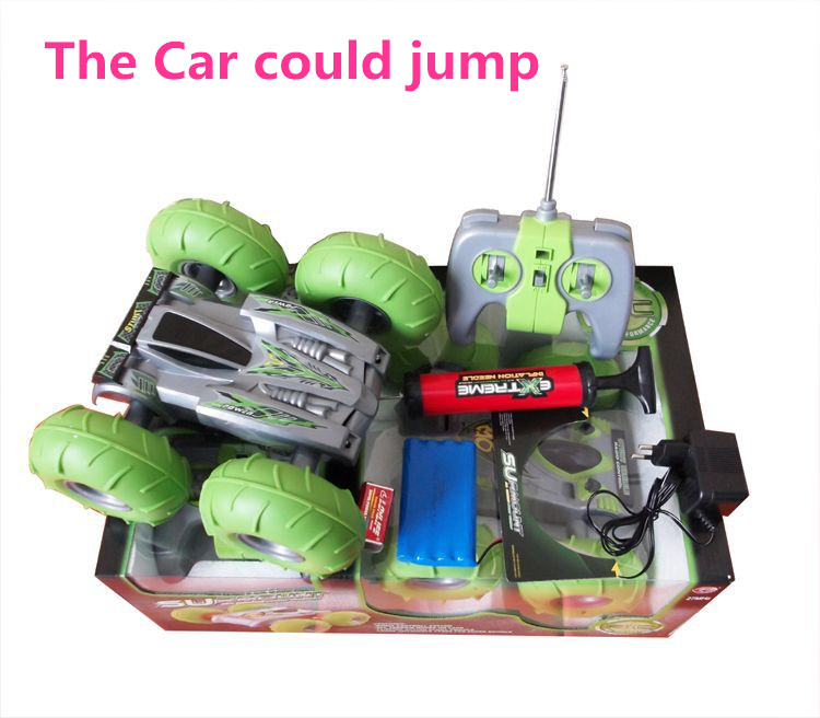 New RC Air Inflation Off Road Jumping Cars Remote Control Car Hight Speed 4WD Mini Racing Truck Kids Gift(China (Mainland))