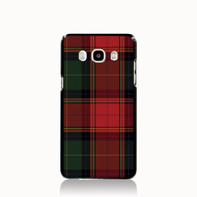 07287 RED BLUE TARTAN SCARF FASHION cell phone case cover for Samsung Galaxy J1 MINI J2 J3 J7 ON5 ON7 J120F 2016