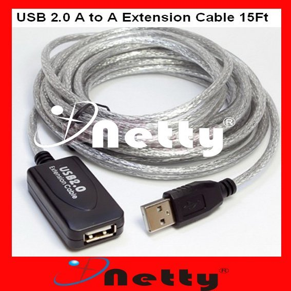 Free Shipping 10pcs/lots New Good Quality 16 Ft 5M Male To Female Active USB 2.0 Extension Cable