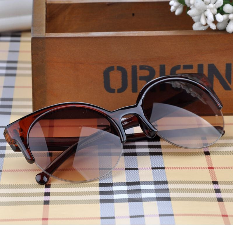Women Eyewear Sunglasses Super Round Circle Cat Eye Sunglasses Summer