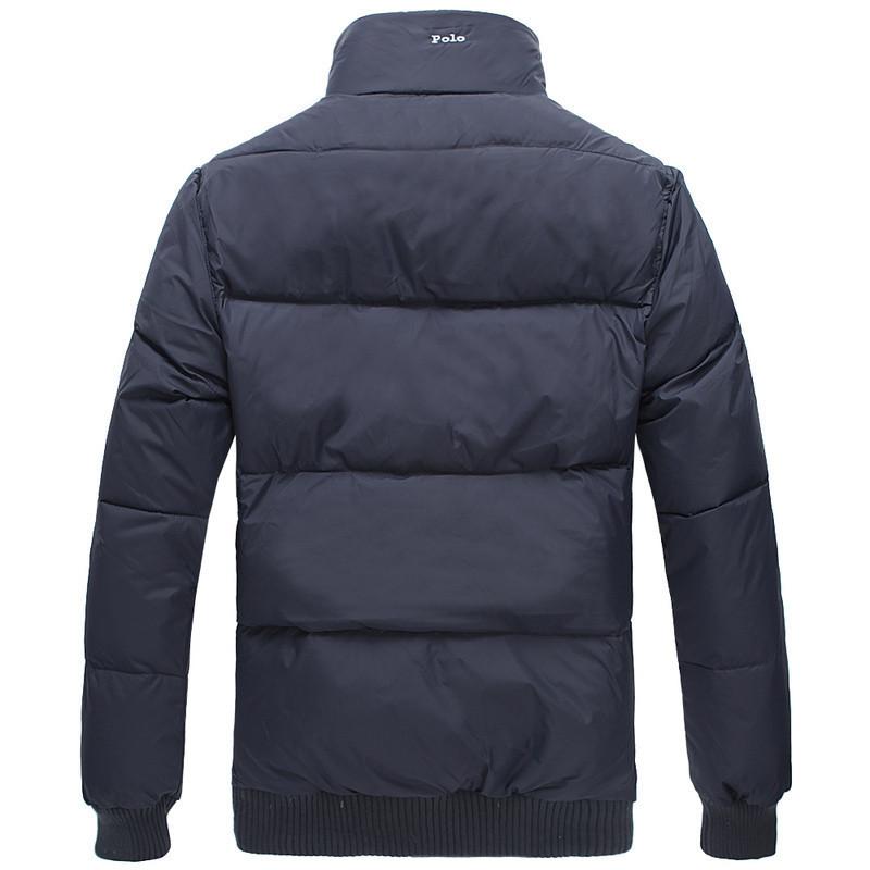 высокое качество зимой белый вниз утка пальто мужчин slim fit рубашки поло мужские спортивной Топ tommyed поло