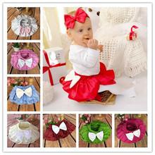 New Baby Girl Tutu Skirt cotton Lace bowknot Princess Dance Party Pettiskirt Kids Bloomers Rainbow Candy Ballet  Skirts(China (Mainland))