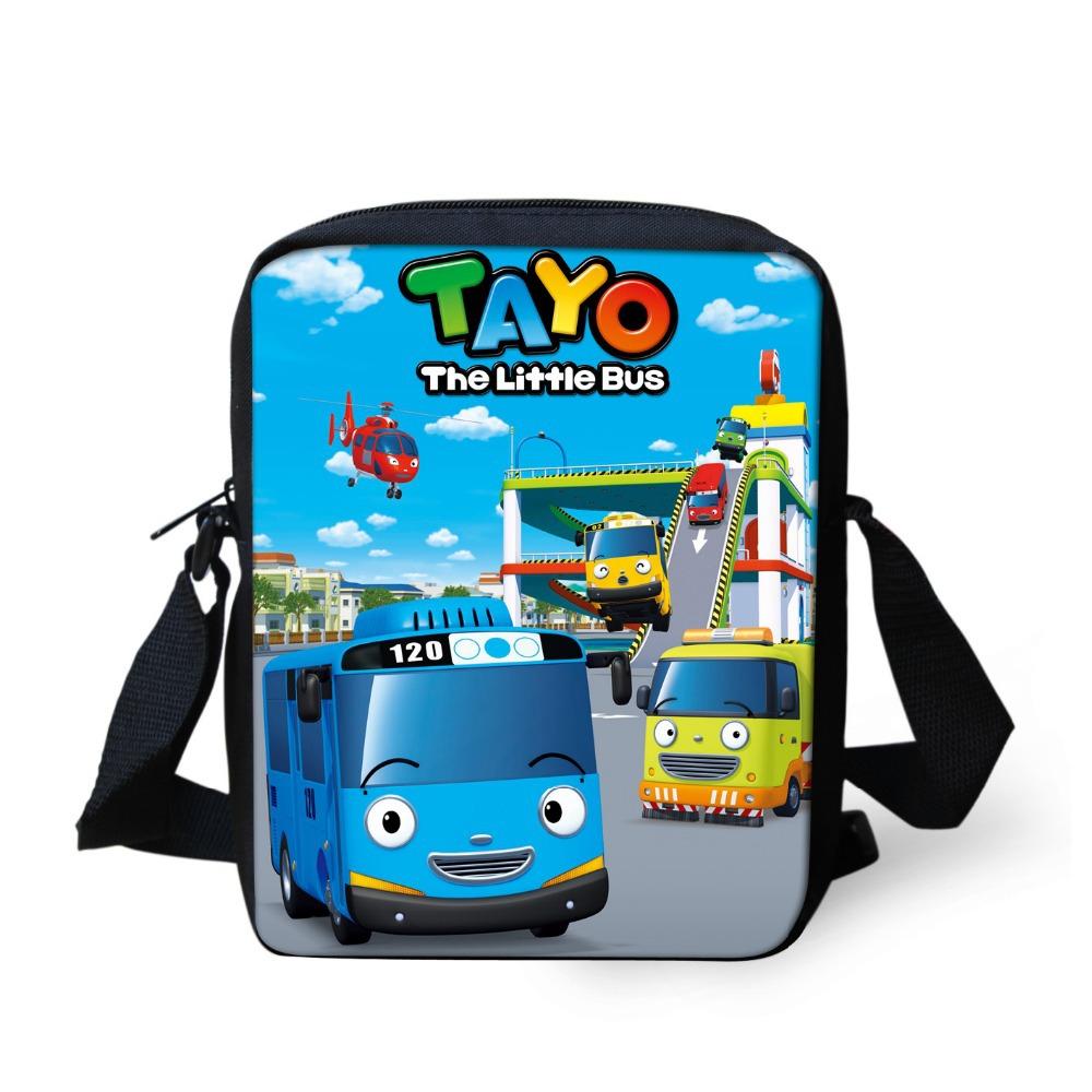 2015 new cartoon tayo bus bag children school bags for little boys,robocar poli car schoolbag kids bags girls mochila infantil(China (Mainland))