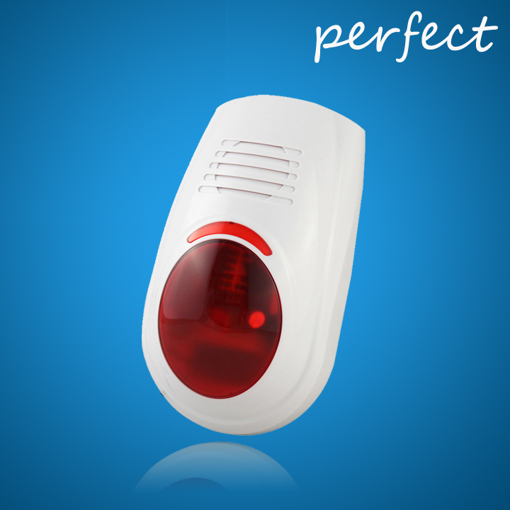 Home security waterproof Indoor / Outdoor intelligent spot alarm system with LED flash siren with transmitter 315/433mhz<br><br>Aliexpress
