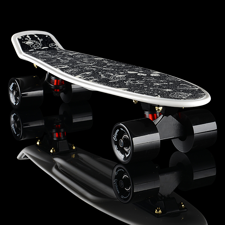 2016 cheap peny boards for sale complete Skateboard 22 griptape Retro Mini Skate long board cruiser longboard wheels led lights(China (Mainland))