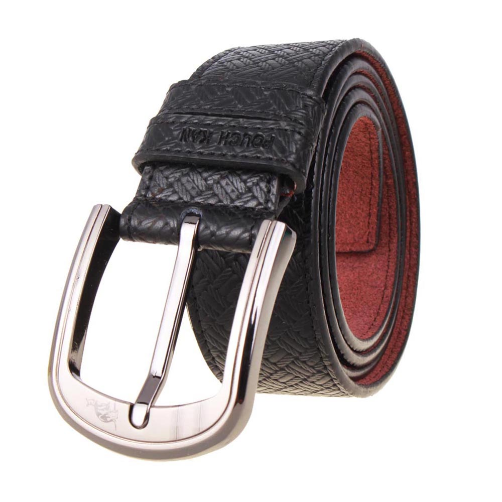 2016 Men's Luxury Belts For Jeans Designers Famous Brand Casual Pin Simple Fashion Business Fashion Leather Male Strap Black(China (Mainland))