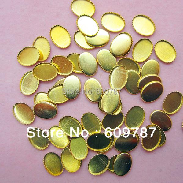 metal base plate for glitter stone 200pcs /lot Nail Art Decoration gold  base