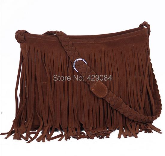 2014 fashion bag fringe  women leather handbags  women messenger bags  shoulder bags women famous brands bolsas femininas(China (Mainland))