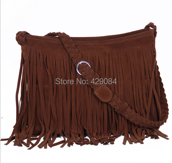 2014 fashion bag fringe women leather handbags women messenger bags shoulder bags women famous brands bolsas femininas(China (Mainland))
