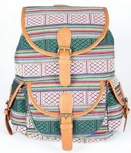 Casual women Jacquard ethnic backpacks retro flower striped  pattern school bags for girls small satchel mouchila feminina(China (Mainland))