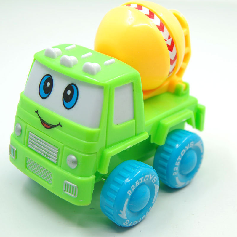 WJA1249 Children's toys wholesale six color cartoon style mini plastic truck back truck selling 55g Toy vehicles(China (Mainland))