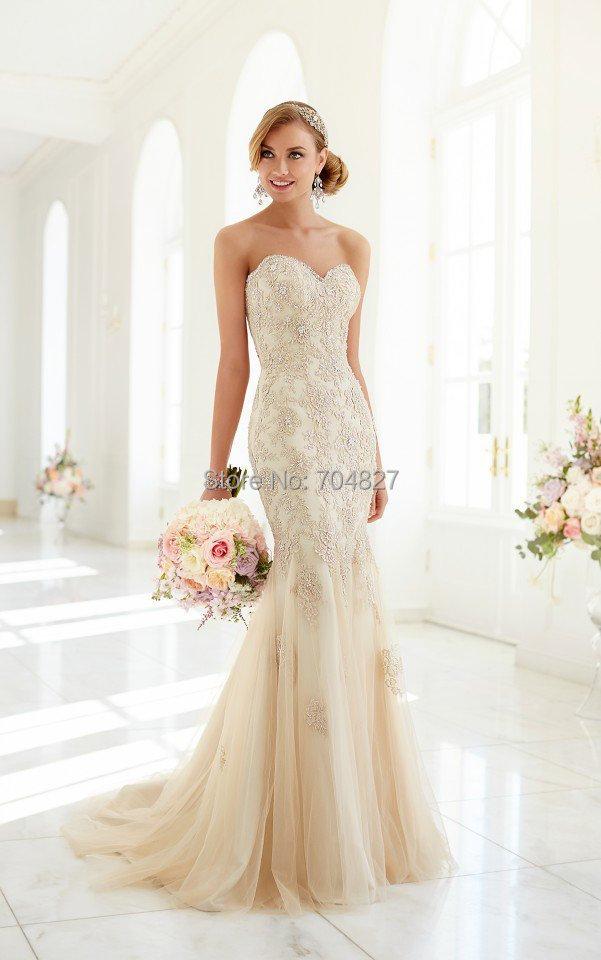 gorgeous mermaid wedding dresses vestido de novia 2015