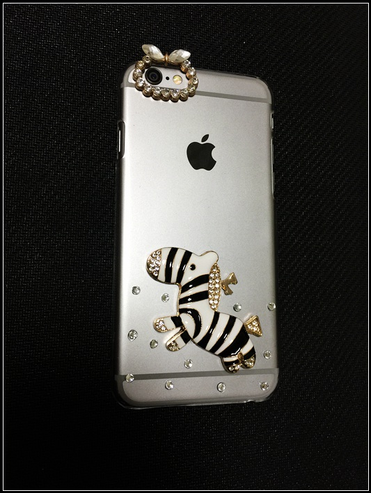 Handmade PC Rhinestone Crystal Pearl Mobile Phone Case Cover for iphone 4 4s protective shell case.10PCS