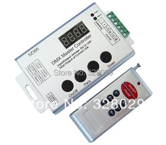 Wholesale Led DMX Master Controller DC12V DMX512 Mini Master Controller DMX SZ300 Free Shipping(China (Mainland))