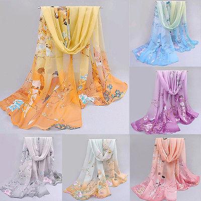 Fashion Chiffon Women Ladies Scarf Neck Shawl Scarf Scarves Wrap Warm Gift(China (Mainland))
