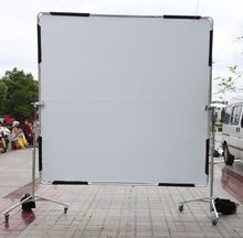 Camera photo reflictor board 2.4*2.4m Butterfly diffusor reflector + frame + 2x roller stands backgroud kit