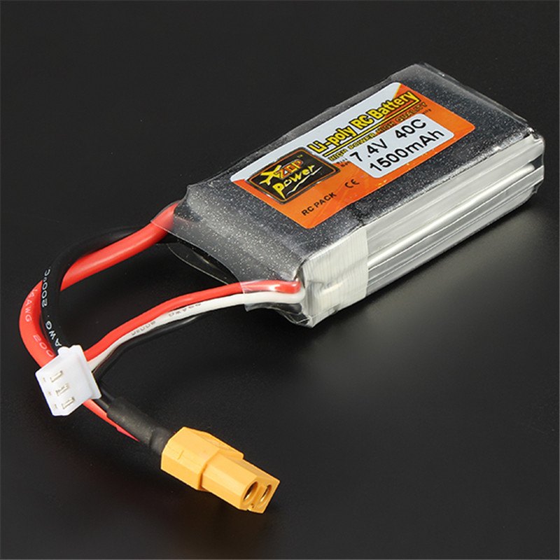 ZOP Power 7.4V 1500mAh 40C 2S Lipo Battery XT60 Plug For RC Camera Drone Accessories For RC Model