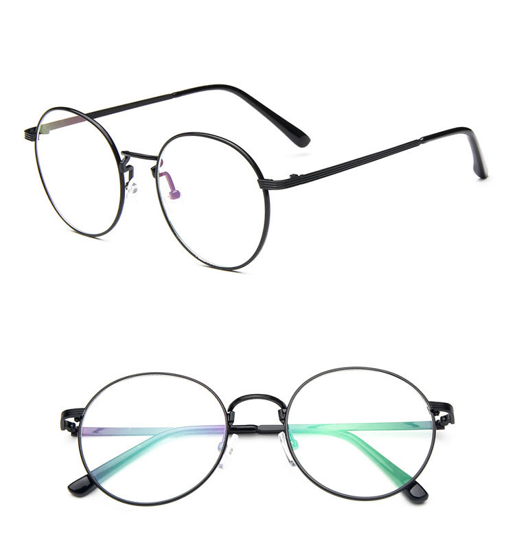 2015 Korean Hipster Vintage Metal Round Glasses Frame 2944 Thin Wild Match Glasses Female Male