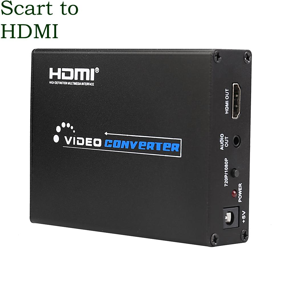 Full HD Scart To HDMI Converter 1080P AV PAL NTSC Signal Adapter Audio Video Upscale Receiver HDTV Projector DVD HDMI Splitter(China (Mainland))