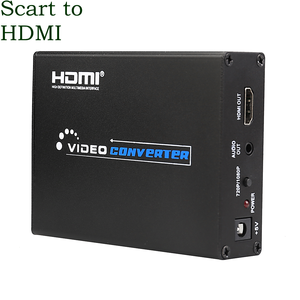 Full HD SCART to HDMI Converter audio signal NTSC video Splitter Adapter BOX 1080P AV PAL Upscale Receiver HDTV Projector DVD(China (Mainland))