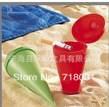 1000 pcs / Lot, PP beach ashtray can print your logo many color available / protect environment of beach free shipping(China (Mainland))