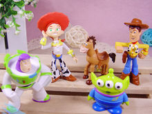 Cute Toy Story Figure Woody Buzz Jessie Bulleye Alien Toy Figures 5pcs set(China (Mainland))