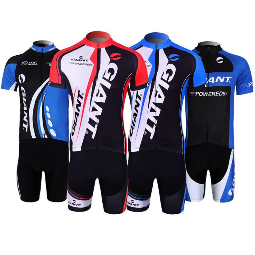 China Post Free Shipping 2015 GIANT cycling Jersey Gel bibs shorts set pro team  GIANT bike jersey cycling shorts