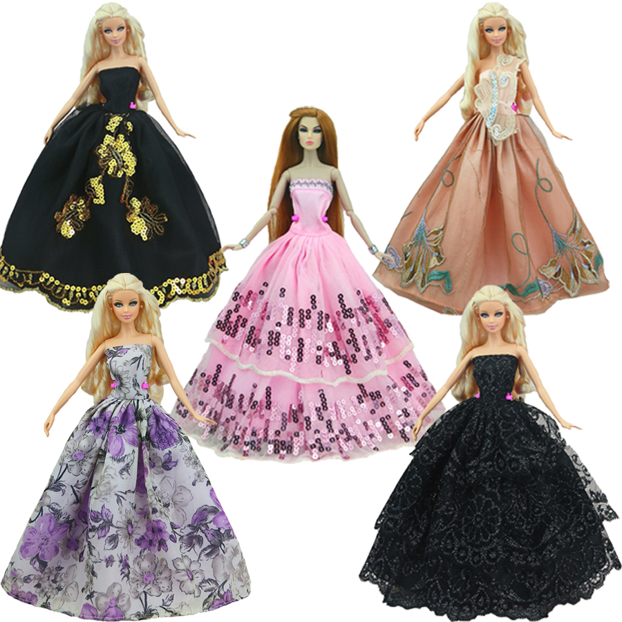 2015 New handmake wedding Dress Fashion Clothing Gown For Barbie doll Free shipping(China (Mainland))
