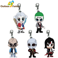 High Quality Suicide Squad Keychain Harley Quinn The Joker Deadshot Figure Pendant Charm Metal Key Chain
