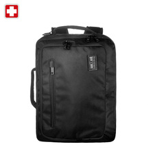 "Swissgear Classic 17"" Men's Laptop Briefcase for Business Brand Notebook Computer Bagpack High Quality Black Laptop Sleeve(China (Mainland))"