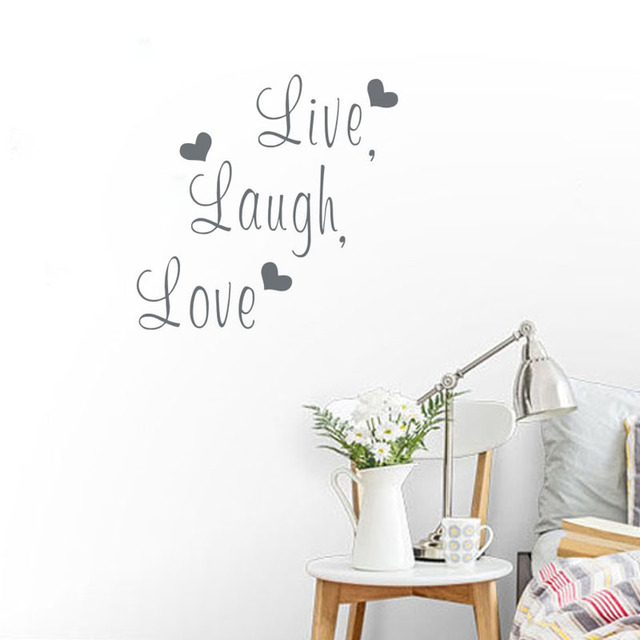 live laugh love sticker free shipping worldwide live laugh love wall decal sticker lettering vinyl word ebay
