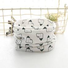 De bebé de algodón bufanda bebé Baberos para niños niñas Burp paños Baberos niños encantadores collares anillo O pañuelo(China)