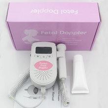 Soins de santé! Pocket Doppler fœtal bébé moniteur de fréquence cardiaque foetale prénatale détecteur 3 MHz sonde haut - parleur intégré de santé moniteurs(China (Mainland))