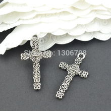Buy Free 100pcs Antique metal tibetan silver cross charms pendants hand made fit jewelry making 26*15mm Z42847 for $5.79 in AliExpress store