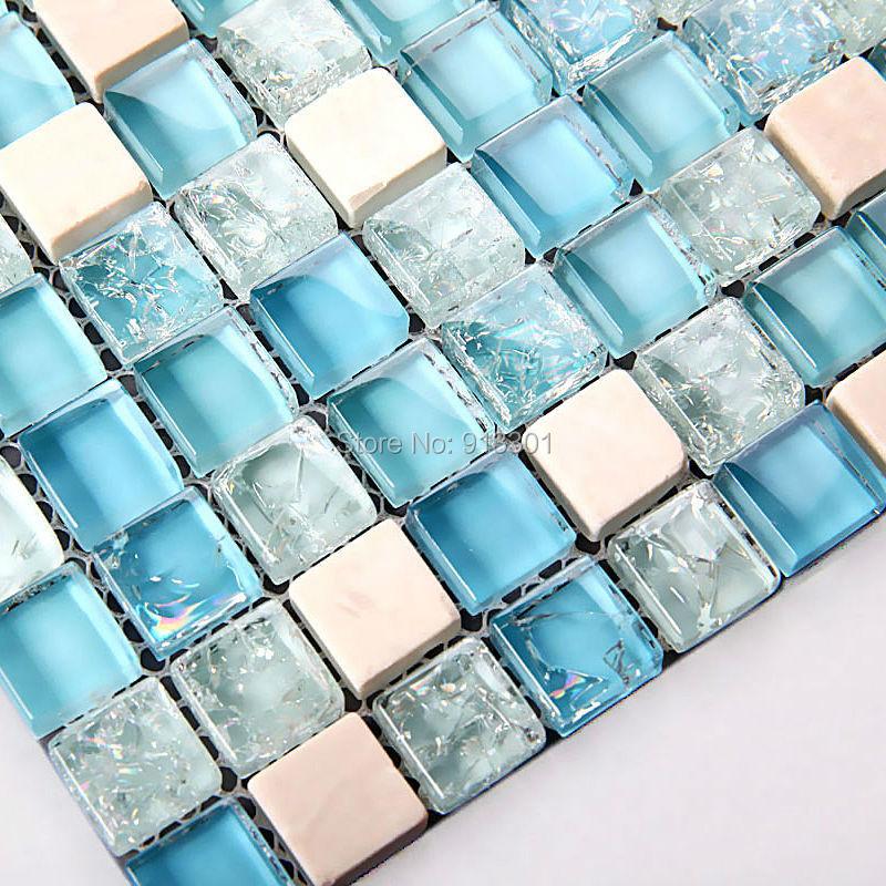 Vidrio cristalino cocina backsplash azulejos de mosaico de vidrio espejo de piedra baratos Azulejos cocina baratos