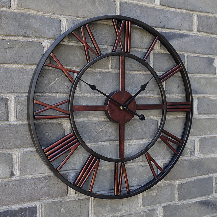 1 piece 50cm creative wall clock the hotel bar cafe for Pendule murale industrielle