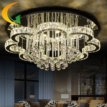 Eight degree crystal LED ceiling lamp lighting living room lamp round warm romantic bedroom lamp children dining room(China (Mainland))