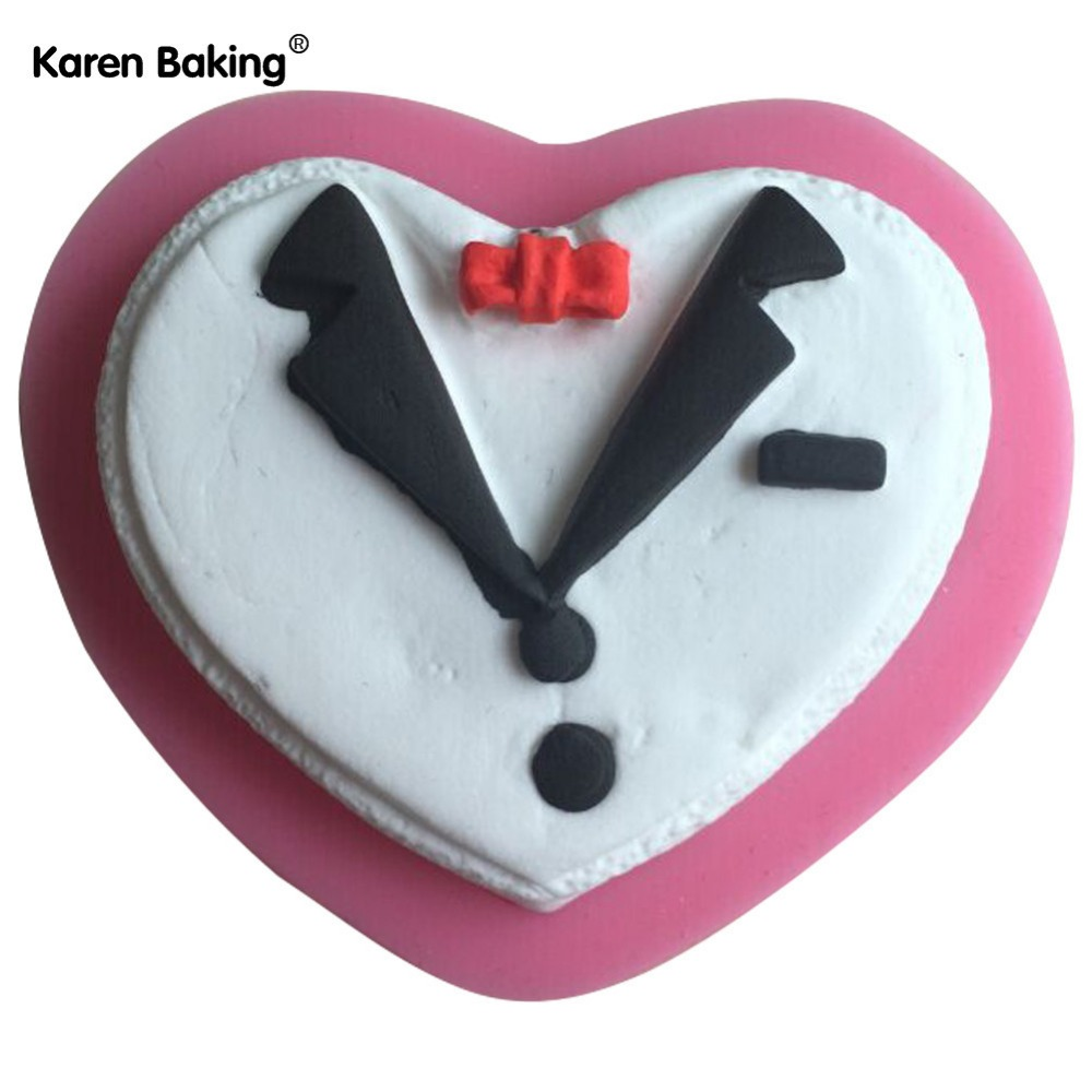 Business Suit Shape 3D Silicone Mold Chocolate Fondant Cake Decorating Tools Cookie Cutter For Cupcake --C533(China (Mainland))